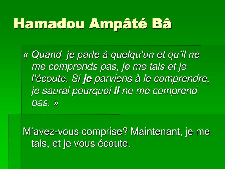 Hamadou Ampâté Bâ