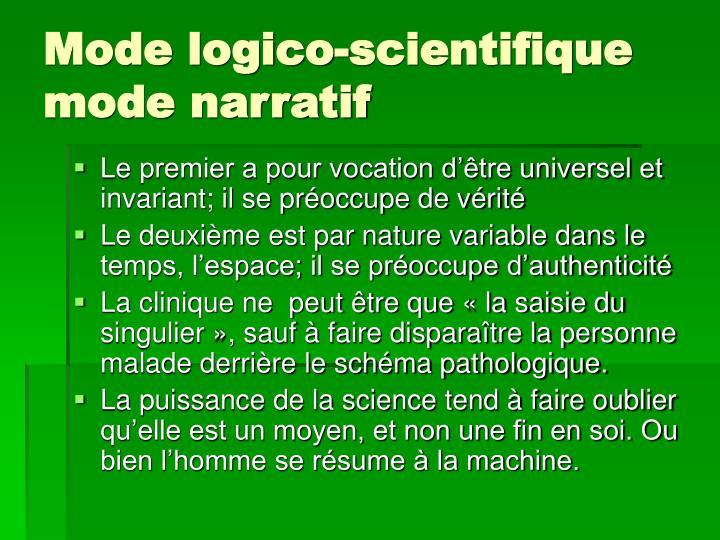 Mode logico-scientifique