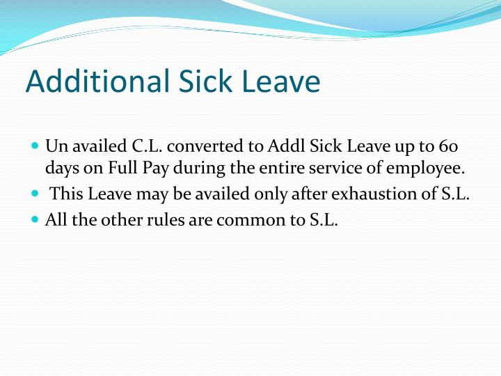 Additional Sick Leave
