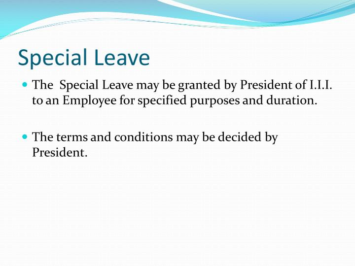 Special Leave