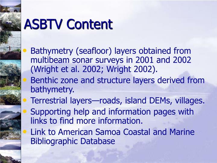 ASBTV Content