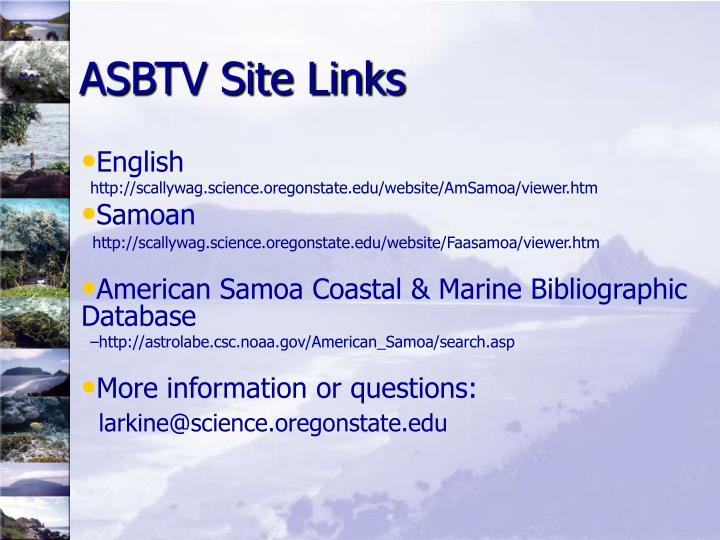 ASBTV Site Links