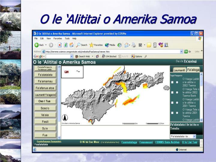 O le 'Alititai o Amerika Samoa