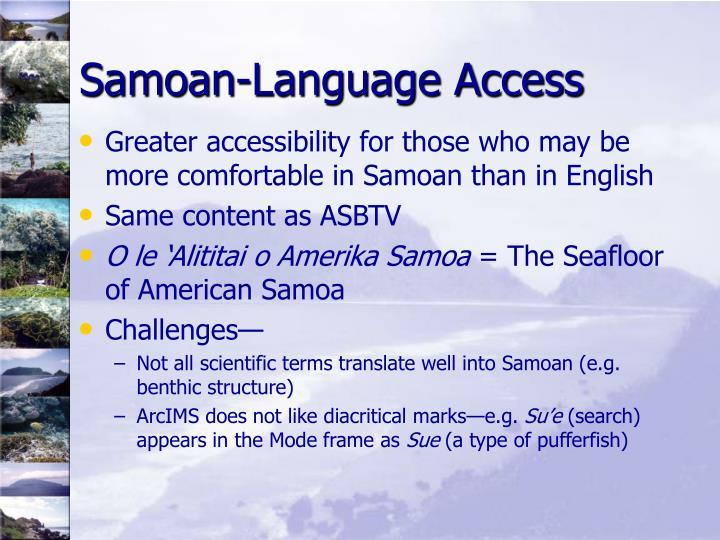 Samoan-Language Access