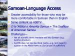 samoan language access