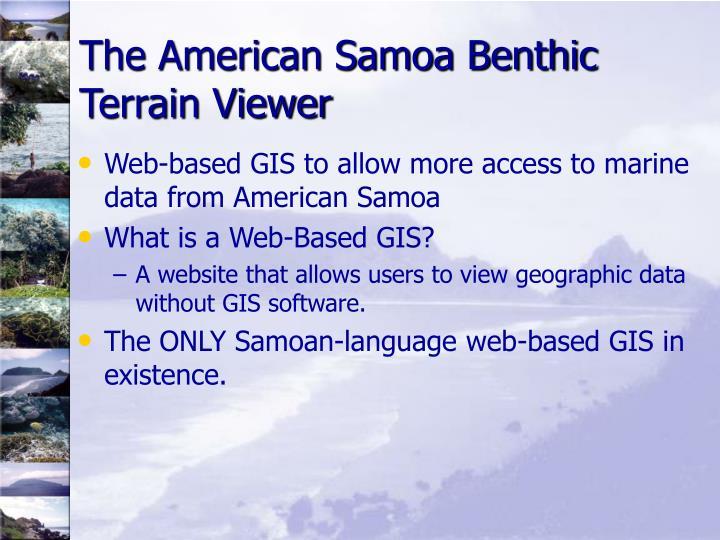 The American Samoa Benthic Terrain Viewer