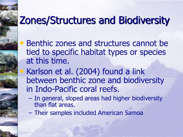 Zones/Structures and Biodiversity