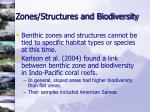 zones structures and biodiversity