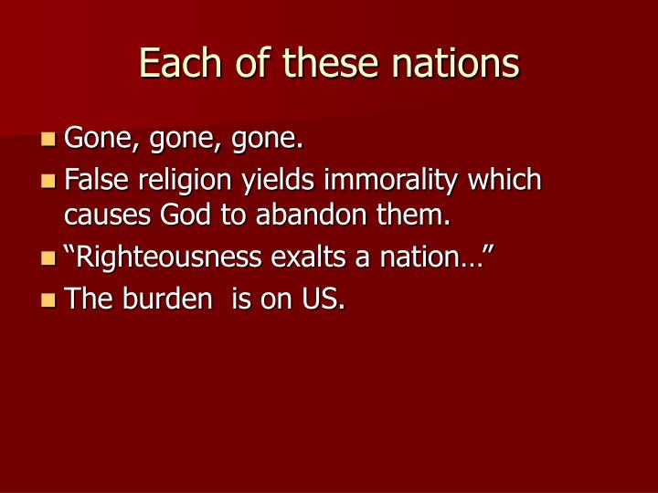 Each of these nations
