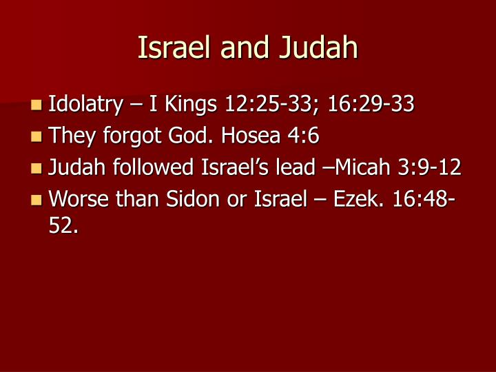 Israel and Judah