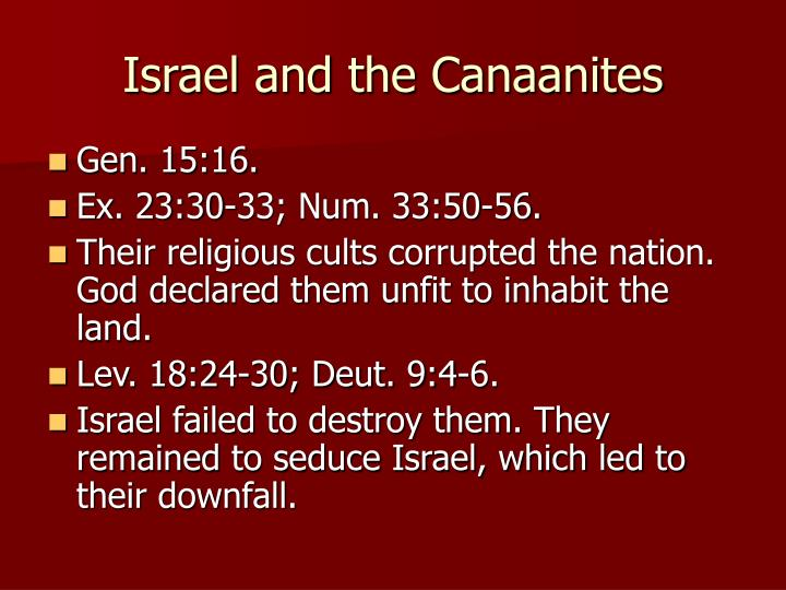 Israel and the Canaanites