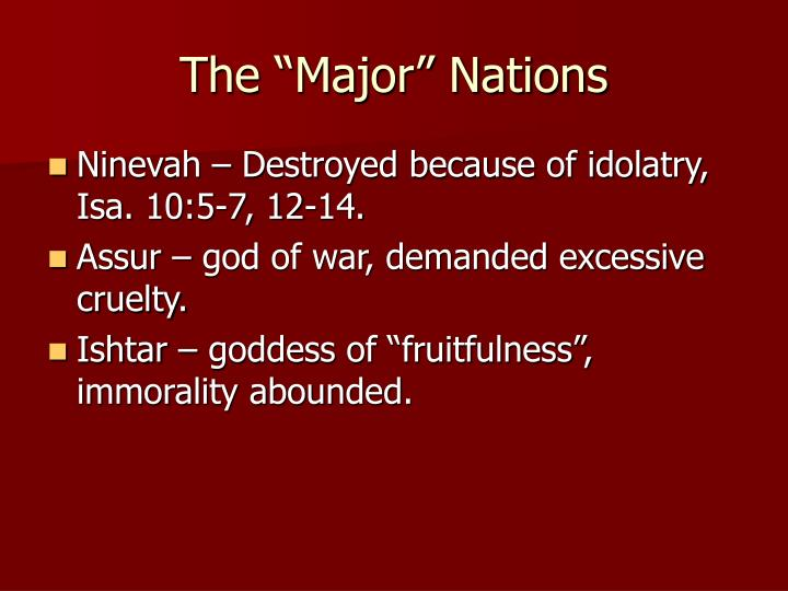 "The ""Major"" Nations"