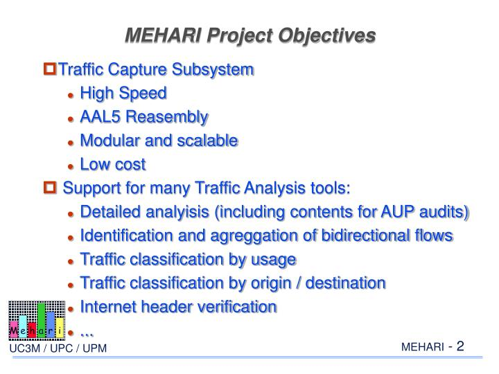 MEHARI Project Objectives