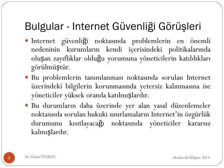 Bulgular - Internet Güvenliği Görüşleri