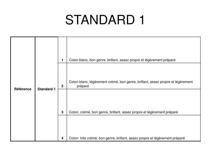STANDARD 1