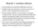 march 1 r sultats offreurs