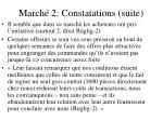 march 2 constatations suite