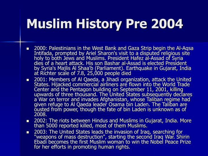 Muslim History Pre 2004