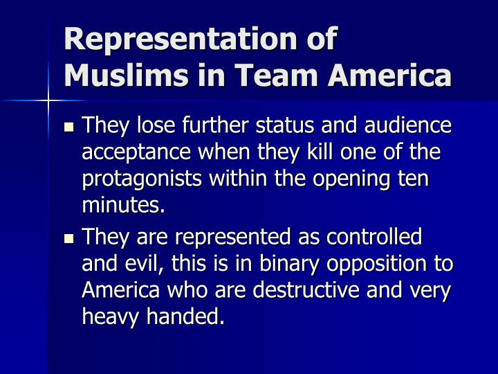 Representation of Muslims in Team America