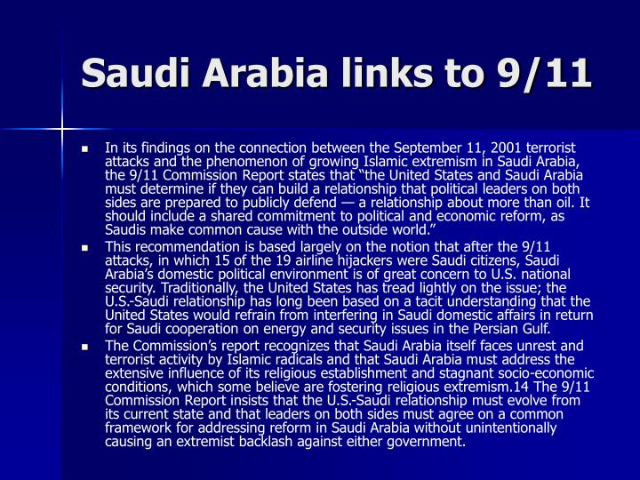 Saudi Arabia links to 9/11