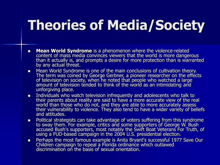 Theories of Media/Society