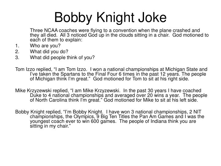 Bobby Knight Joke