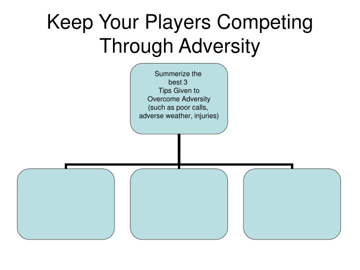 Keep Your Players Competing Through Adversity