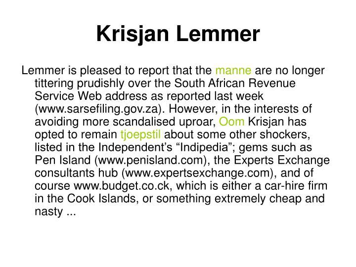Krisjan Lemmer
