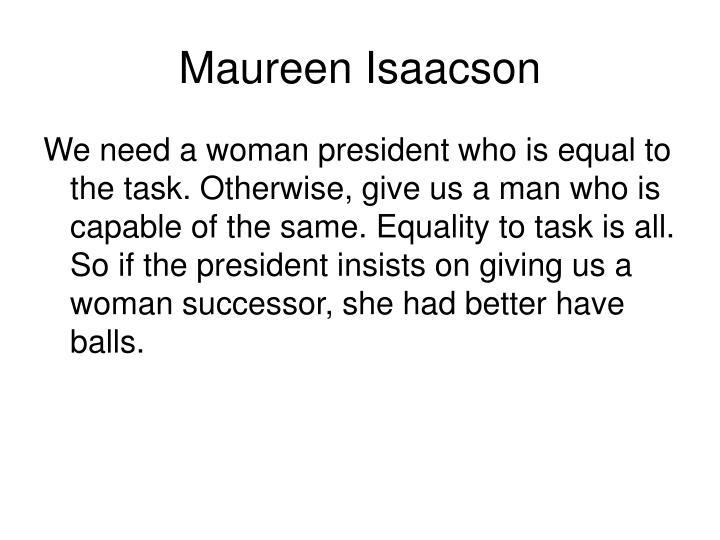 Maureen Isaacson