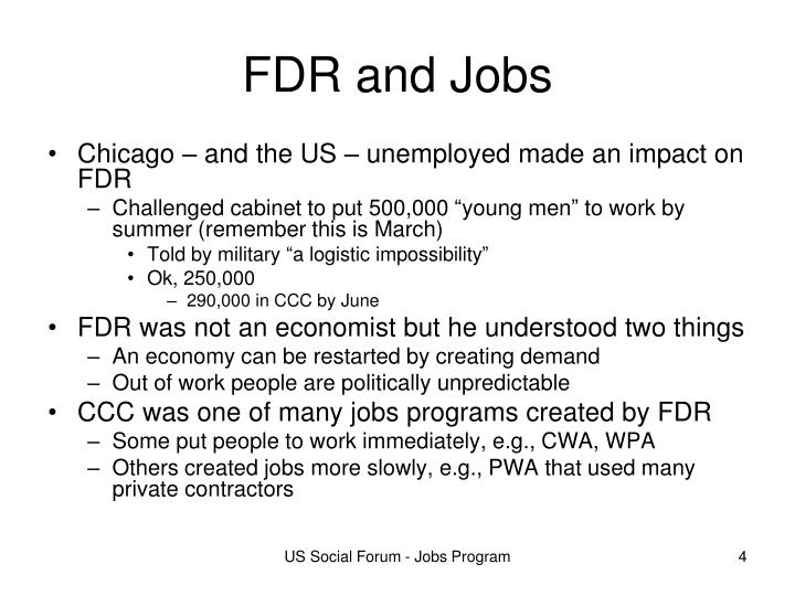 FDR and Jobs