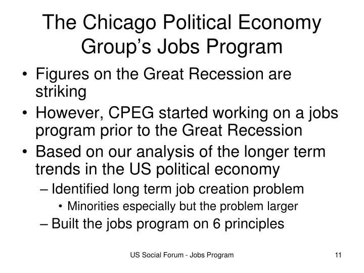 The Chicago Political Economy Group's Jobs Program
