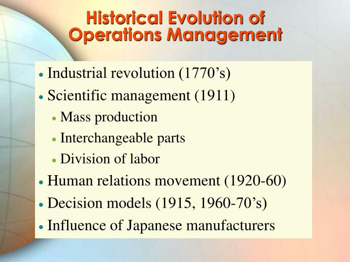 Historical Evolution of