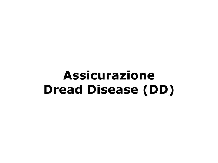 Assicurazione Dread Disease (