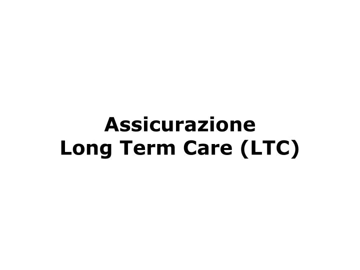 Assicurazione         Long Term Care (