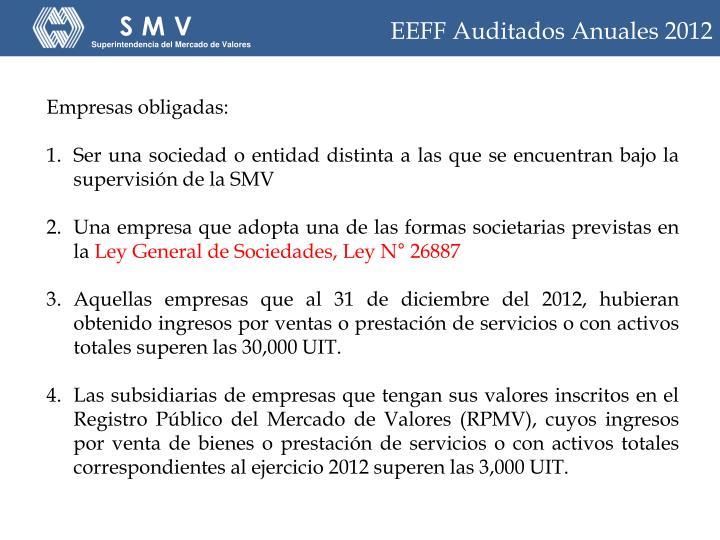 EEFF Auditados Anuales 2012