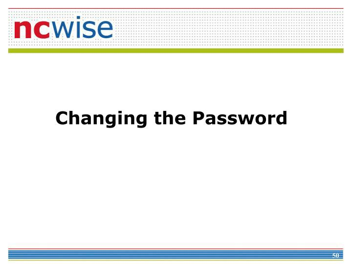 Changing the Password