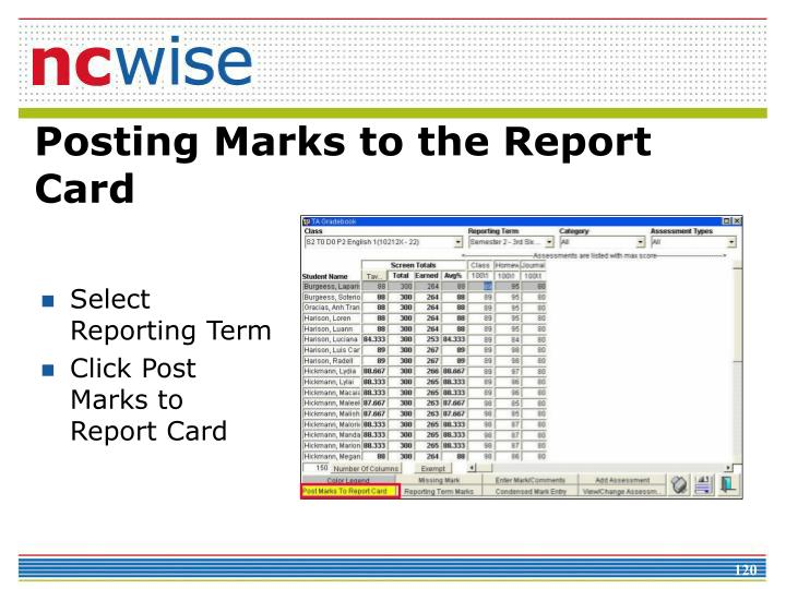 Select Reporting Term