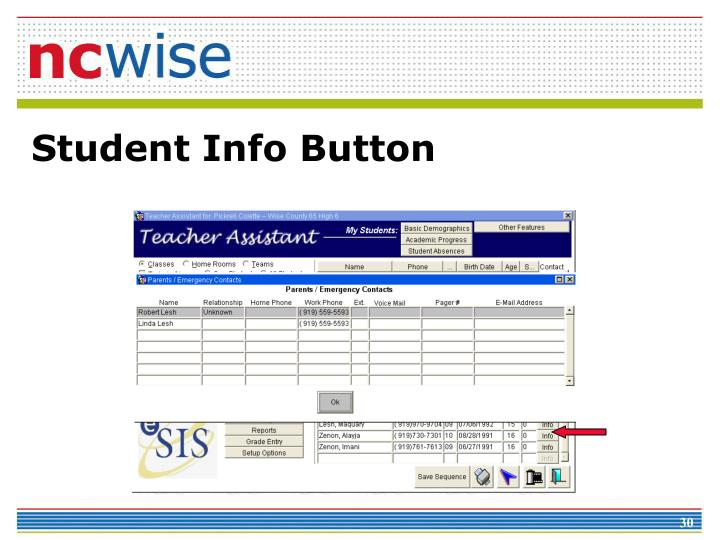 Student Info Button