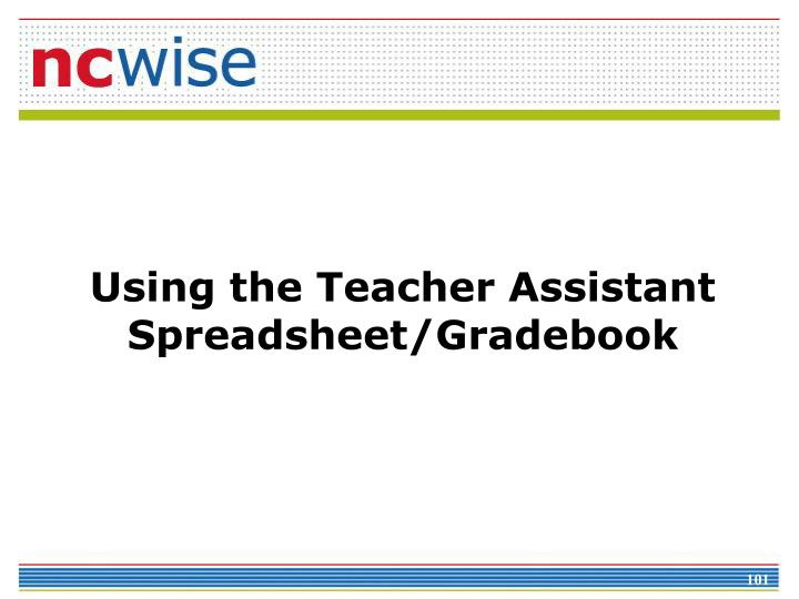 Using the Teacher Assistant