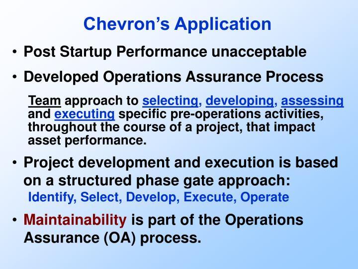 Chevron's Application