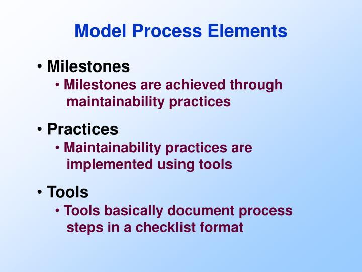 Model Process Elements