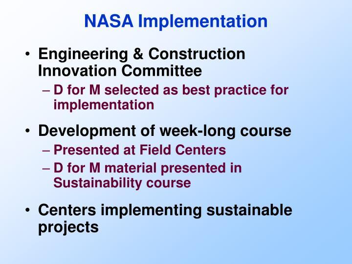 NASA Implementation