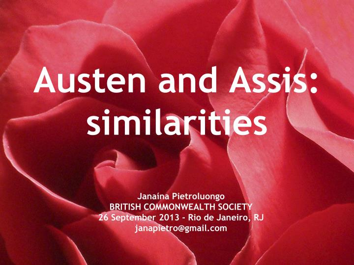 Austen and assis similarities