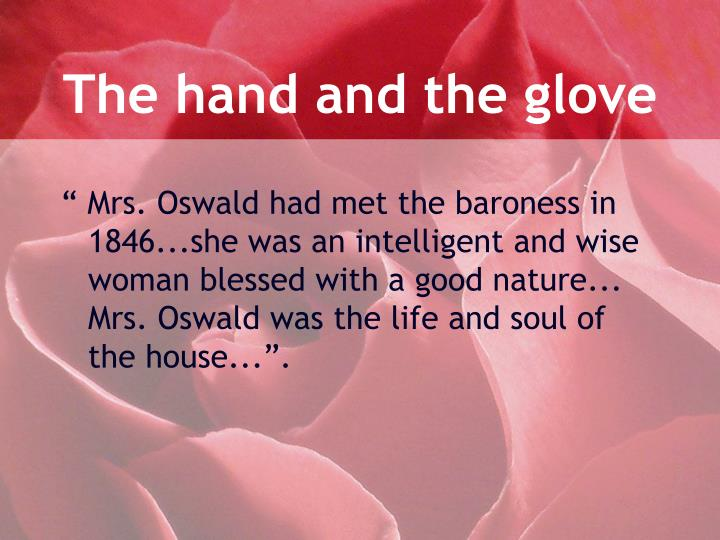 The hand and the glove