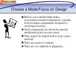 choose a mode focus on design