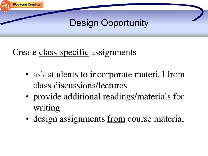 Design Opportunity