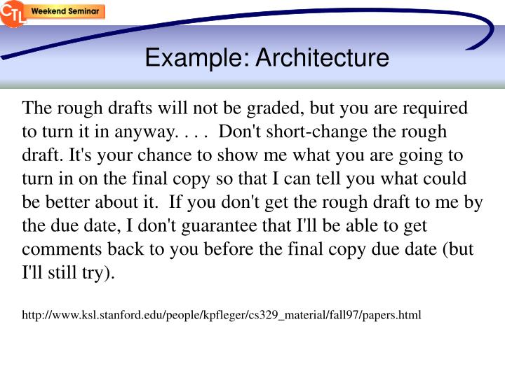 Example: Architecture