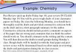 example chemistry