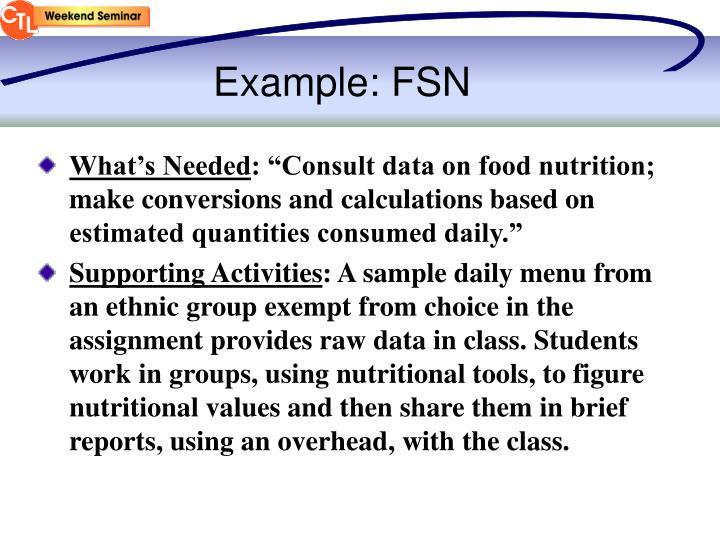 Example: FSN