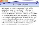 example history